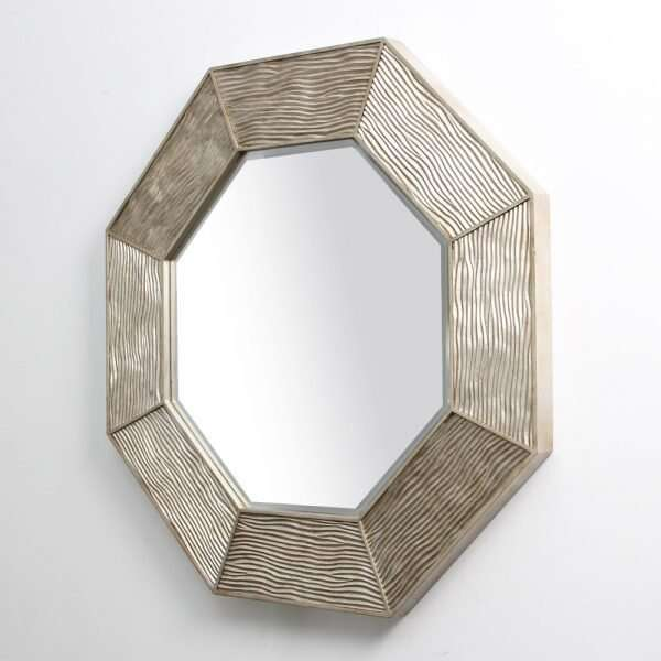 Lennox Wall Mirror in Antique Silver by Forwood Design 7