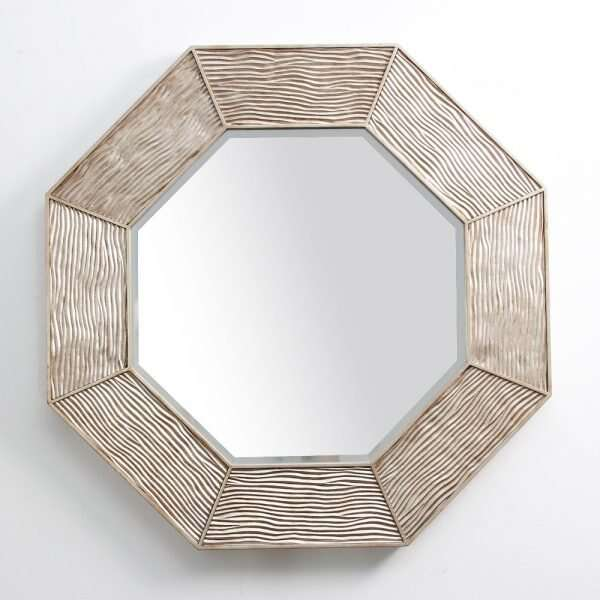 Lennox Wall Mirror in Antique Silver by Forwood Design 2