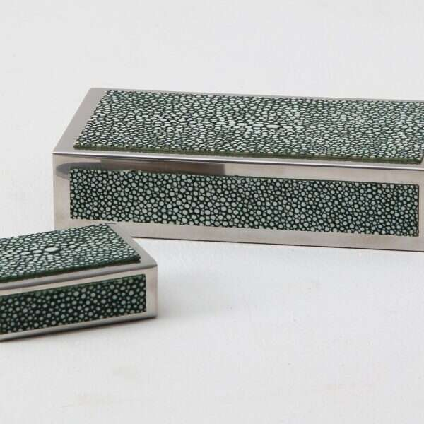 Matchbox Holders in Lincoln Green Shagreen by Forwood Design 4