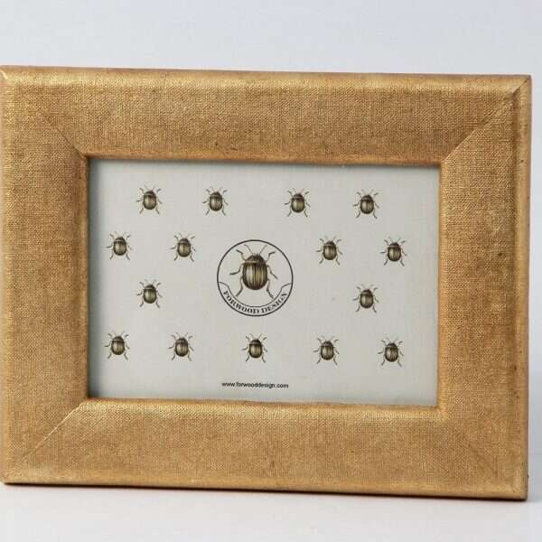 Linen Photo Frame in Antique Gold by Forwood design 6