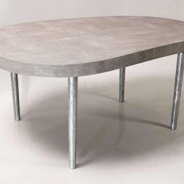 Mango coffee table in barley shagreen by Forwood Design 2