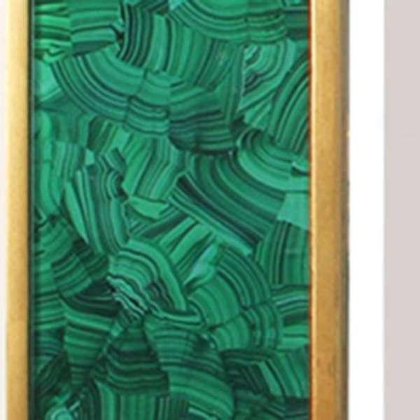 Alexandra Malachite Rectangular Mirror by Forwood Design 1