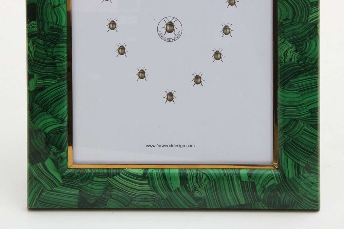 Malachite Photo Frames by Forwood Design 4