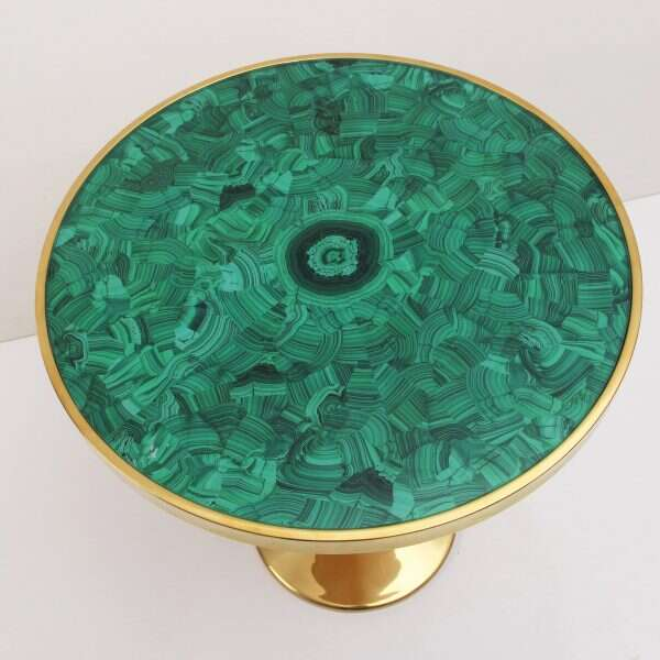 Malachite Alexandra Side Table by Forwood Design 6