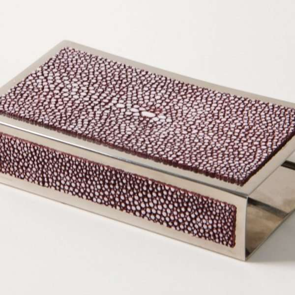 Matchbox Holders in Mulberry Shagreen by Forwood Design 10