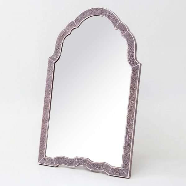 Arden Dressing Table Mirror in Mulberry Shagreen by Forwood Design 5
