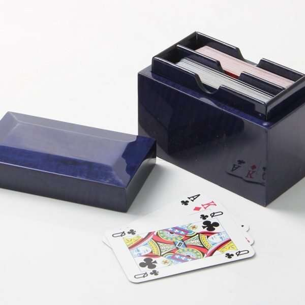 Playing Card Box in Periwinkle Blue by Henry Forwood