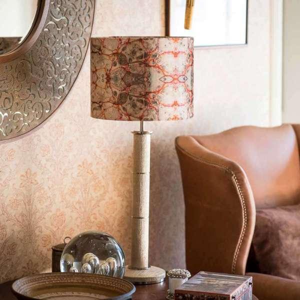 Pietra Grigia Velvet Lampshades by Susi Bellamy 1