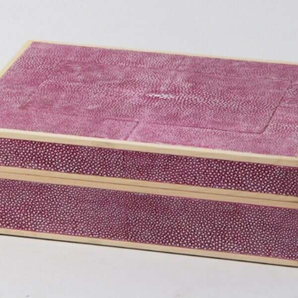 Ansley Jewellery Box in Pink Shagreen by Forwood Design 5