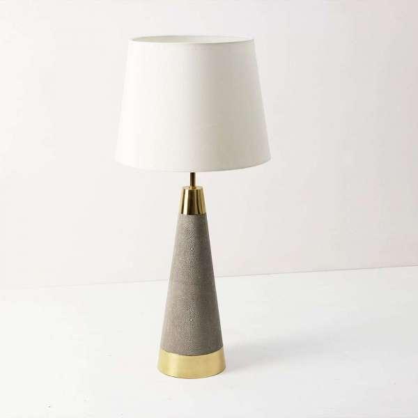 Sabina Table Lamp in Barley Shagreen by Forwood Design 6