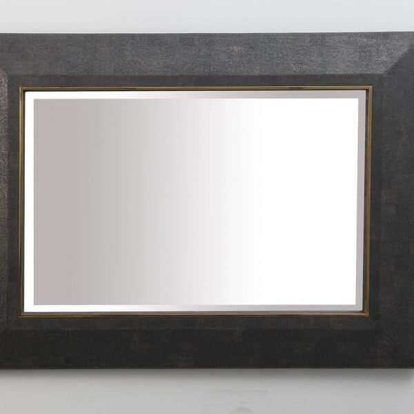 Henry Mirror in Seal Brown Shagreen by Forwood Design 5