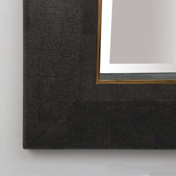 Henry Mirror in Seal Brown Shagreen by Forwood Design 2