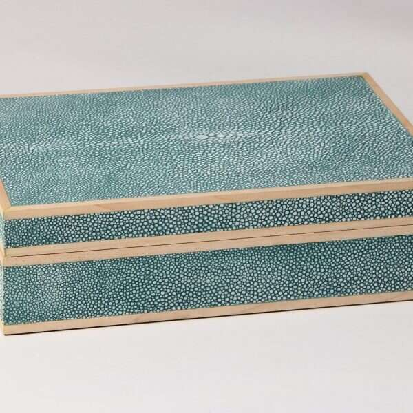 Jewellery Treasure Box in Teal Shagreen by Forwood Design 5