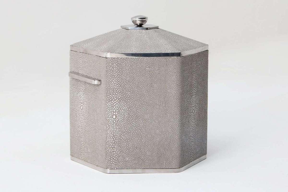 Otis Ice Bucket in Barley Shagreen by Forwood Design 5