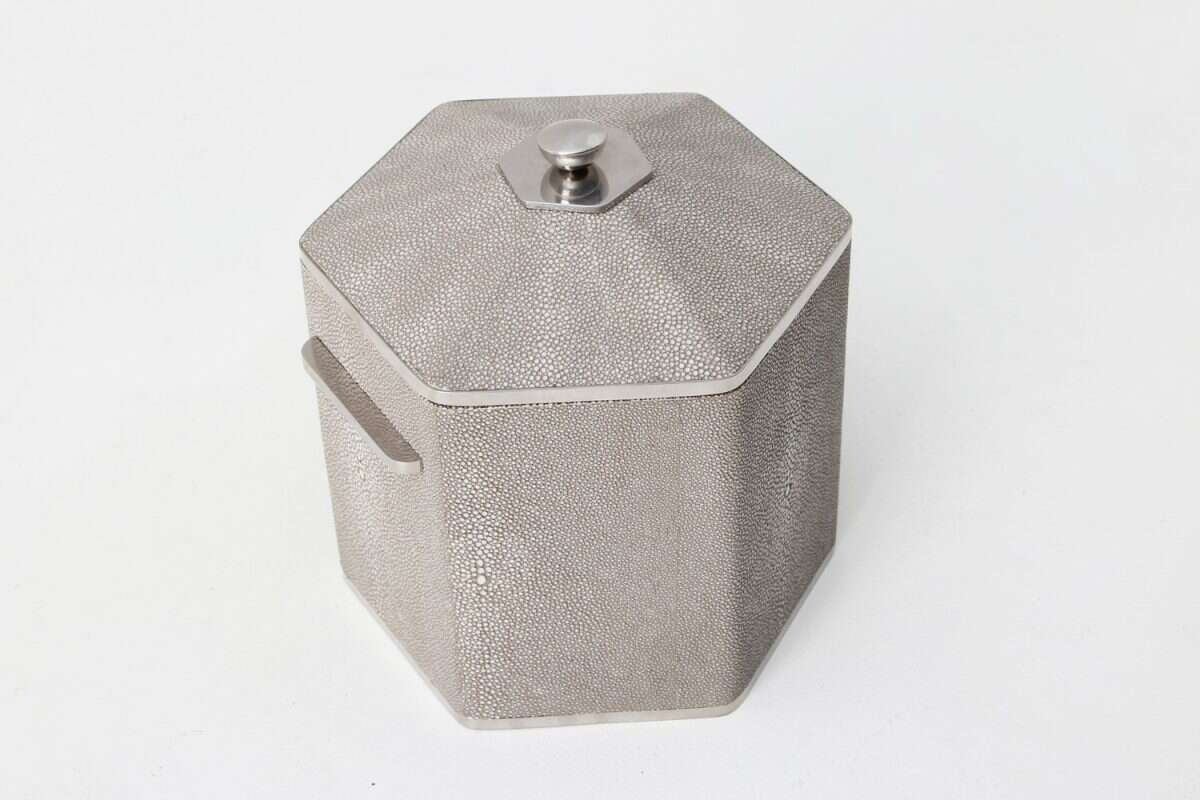 Otis Ice Bucket in Barley Shagreen by Forwood Design 3