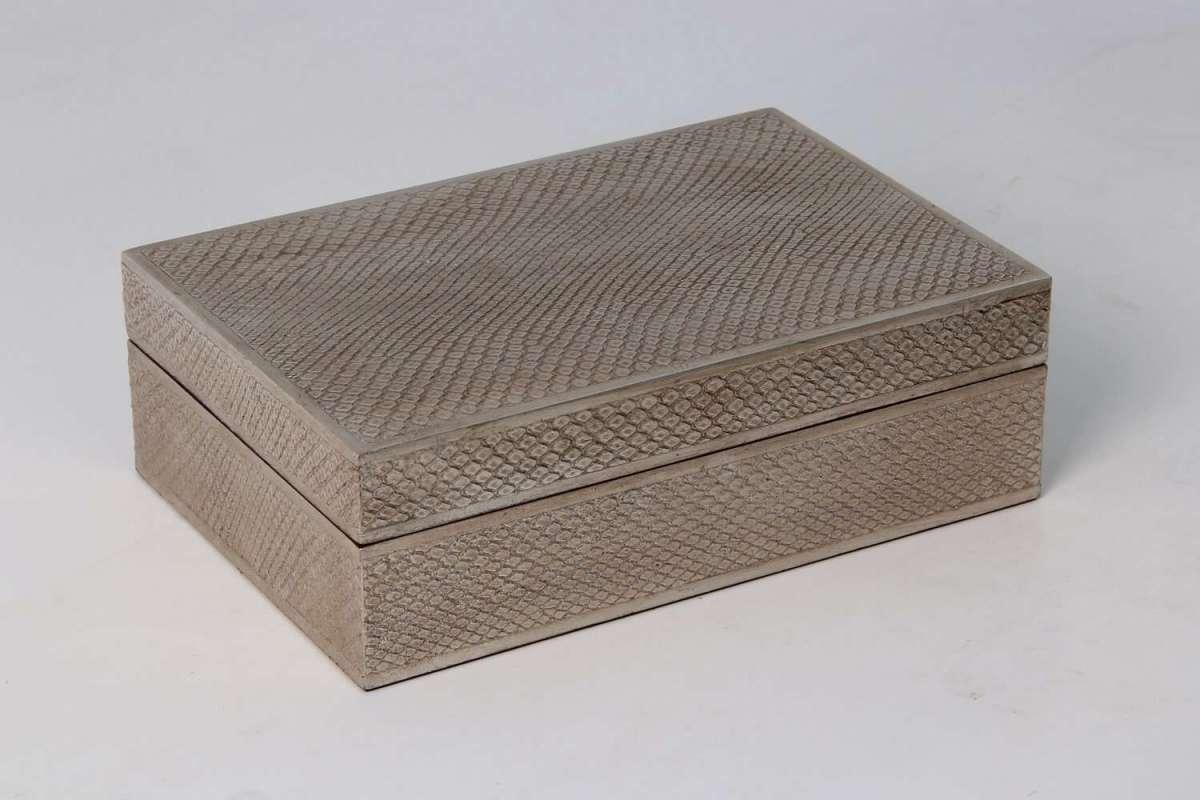 Ansley Jewellery Box in Silver Boa 2