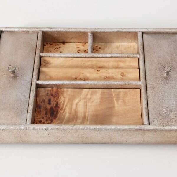 Melford Jewellery Tray in Silver Linen by Forwood design 5