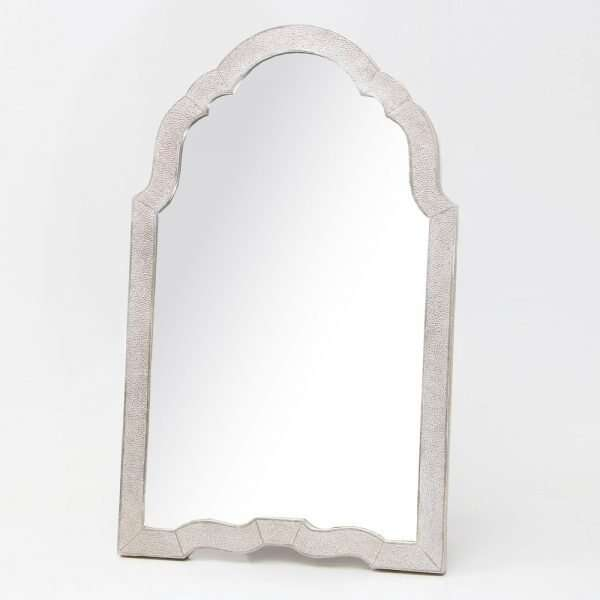 Arden Dressing Table Mirror in Silver Shagreen by Forwood Design 5