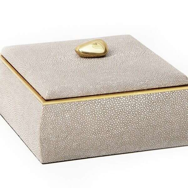 Sophie Box in Barley Shagreen by Forwood Design 5