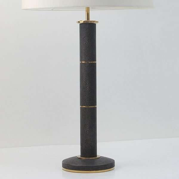 Column Lamp in Seal Brown Shagreen by Forwood Design 4