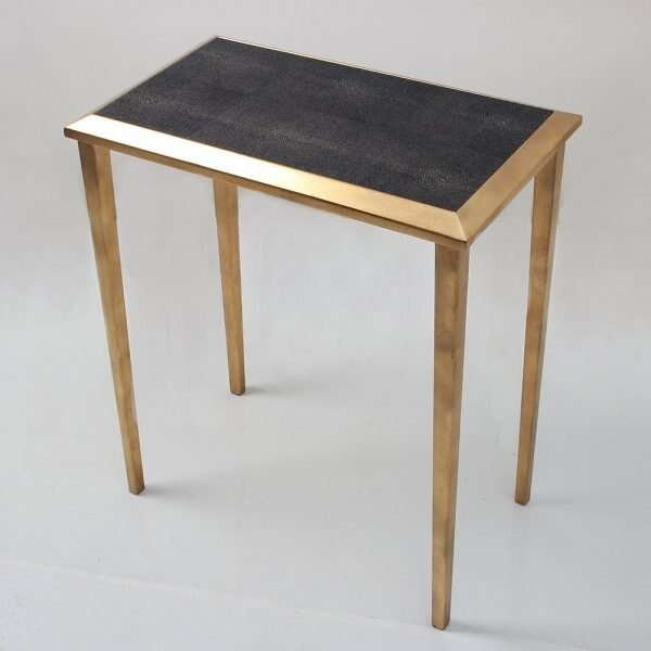 Lamp Table in Seal Brown Shagreen by Forwood Design 2