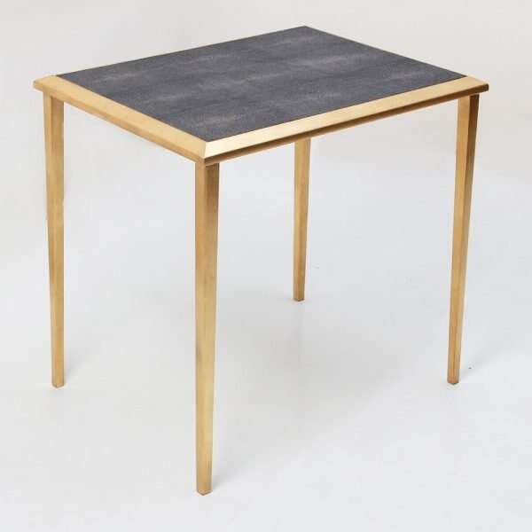 Side Table in Seal Brown Shagreen by Forwood Design 1