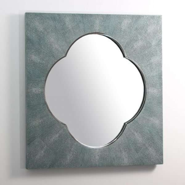 Ely Mirror in Teal Shagreen by Forwood Design 5