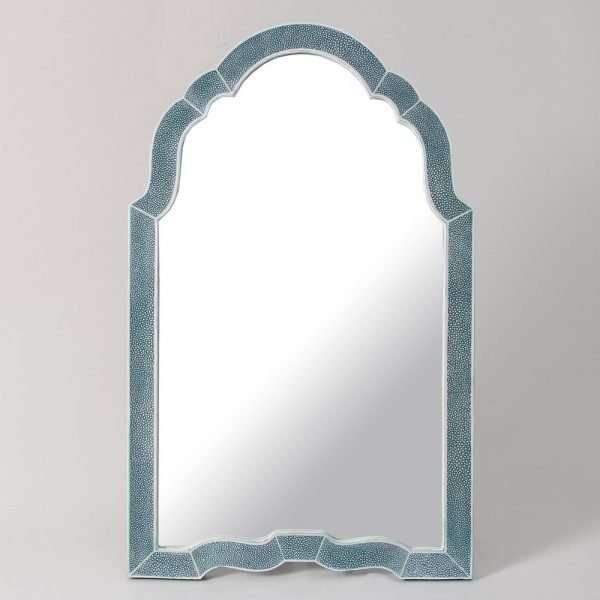 Arden Dressing Table Mirror in Teal Shagreen by Forwood Design 5