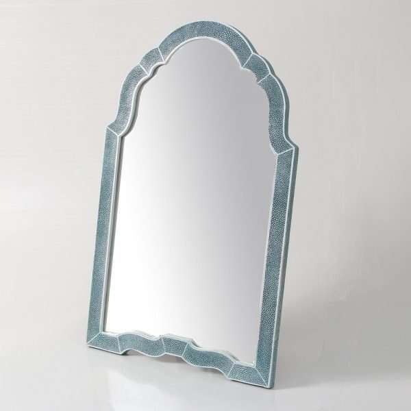 Arden Dressing Table Mirror in Teal Shagreen by Forwood Design 4