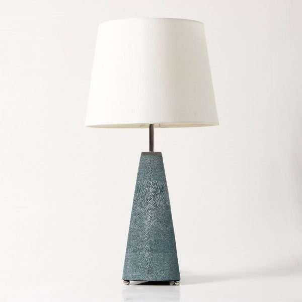 Steeple Table Lamp in Teal Shagreen by Forwood Design 5