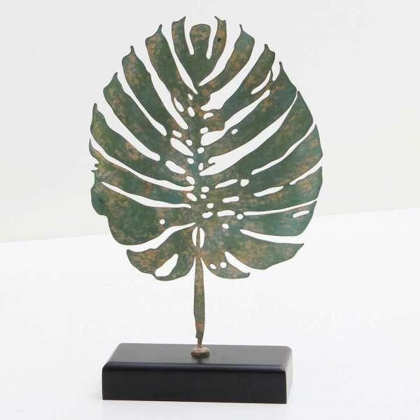 Verdigris Tropicana Leaf Sculpture by Forwood Design 6
