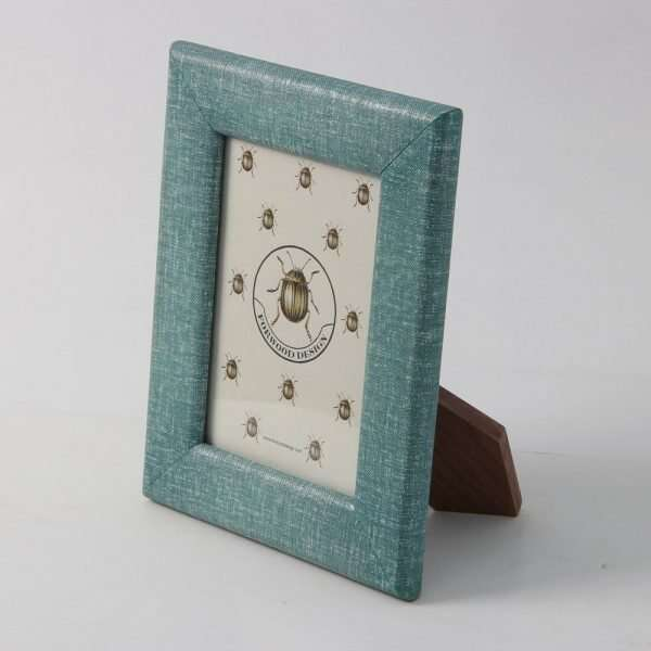 Linen Photo Frame in Teal 2