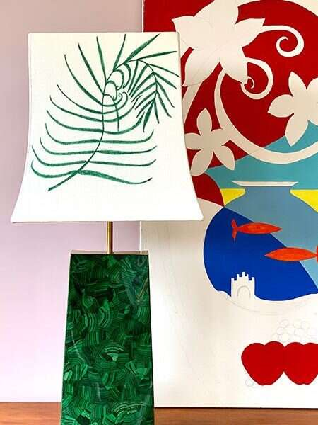 Kitty Arden's 'Palm Leaf' Silk Empire Lamp shade 1