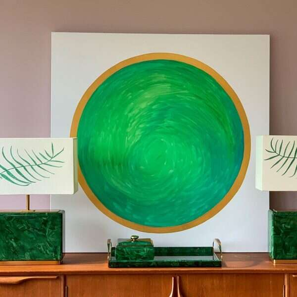 'Green Planet' Painting by Kitty Arden 3