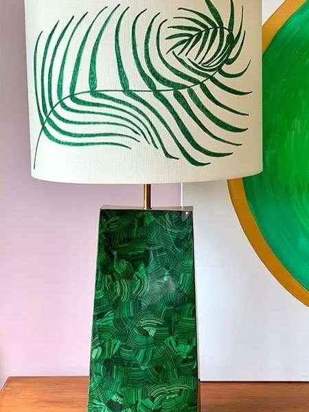 Kitty Arden's 'Palm Leaf' Silk Lamp Shade 1