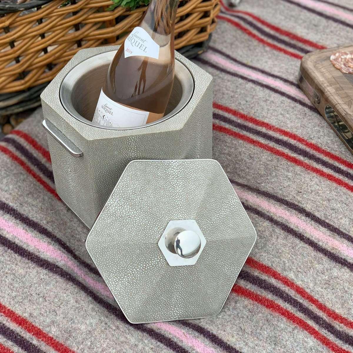 Otis Ice Bucket in Barley Shagreen by Forwood Design 6