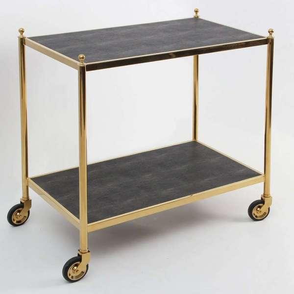 Forwood Design Cliveden Seal Brown Shagreen Trolley 4