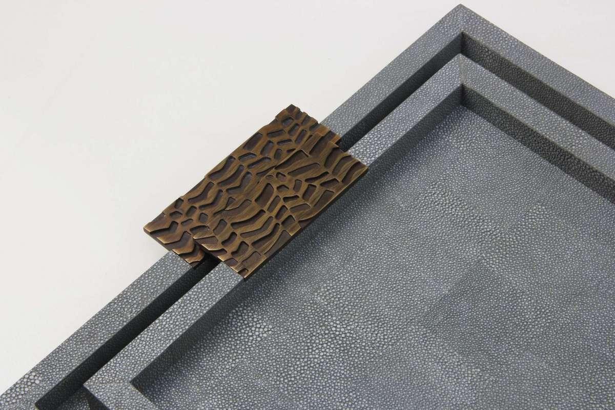 Rachel Winham's 'Midnight' Shagreen Trays by Forwood Design 9