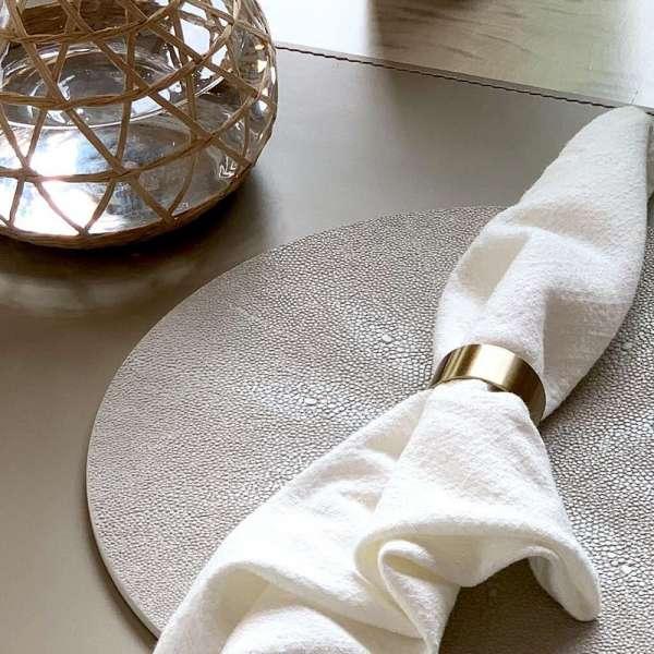 Rachel Winham's Linen White Shagreen Placemats 6
