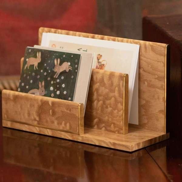 Tamo ash letter rack holding christmas cards