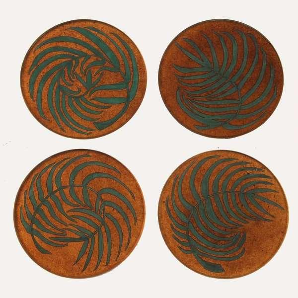 Kitty Arden's Fern Coasters Luxury coasters