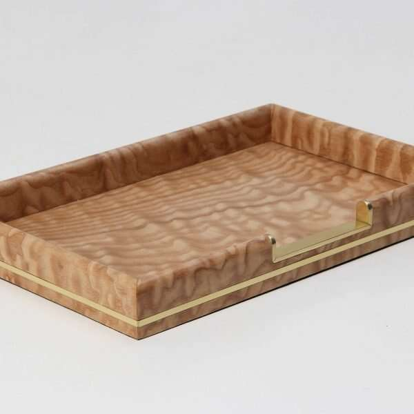 Tamo Ash and Brass Desk Tray 3