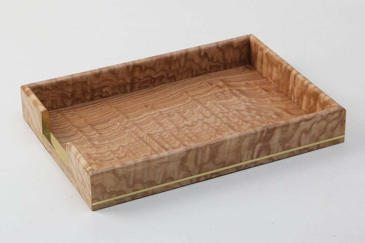 Tamo Ash and Brass In-Tray 1