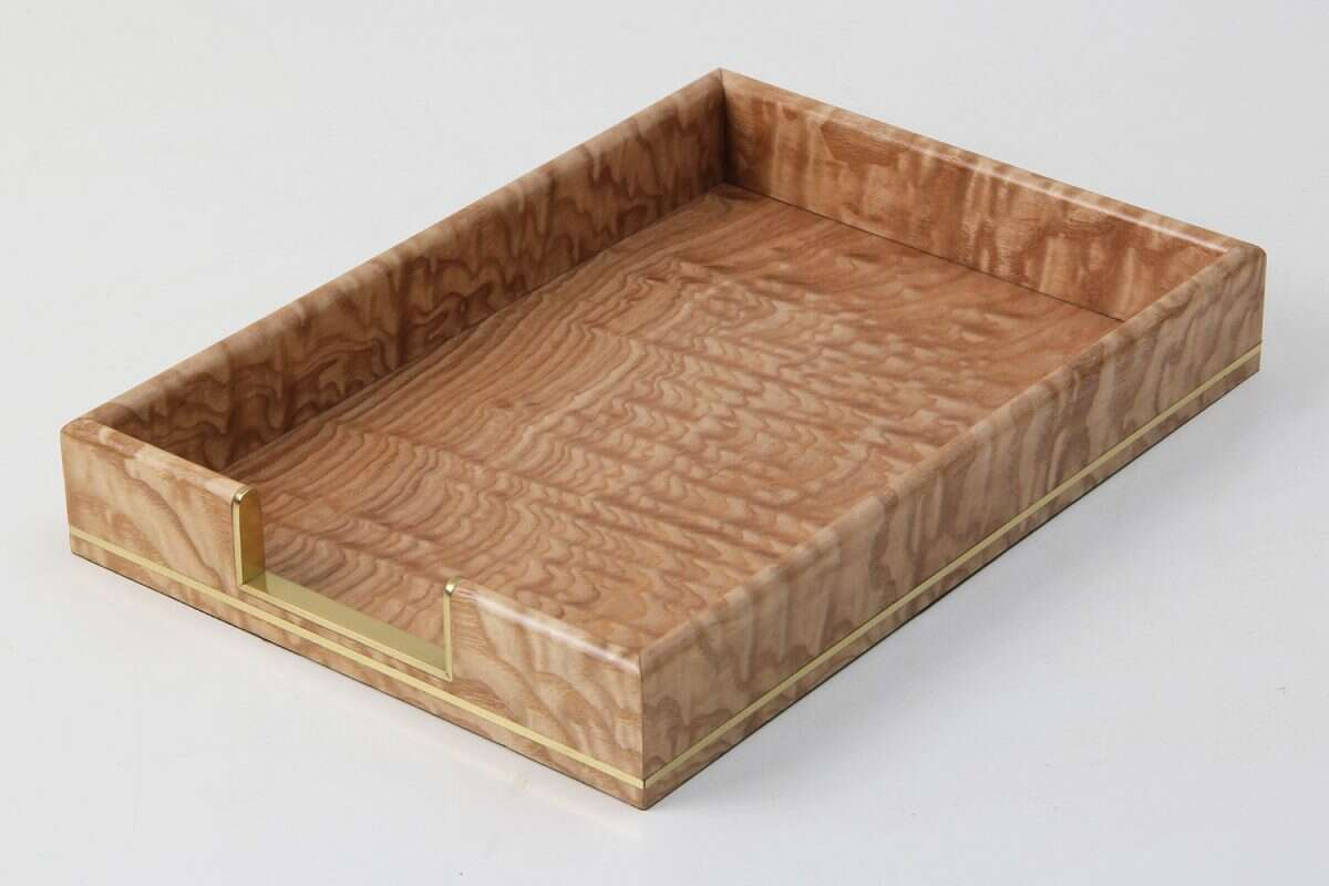 Tamo Ash and Brass In-Tray 2