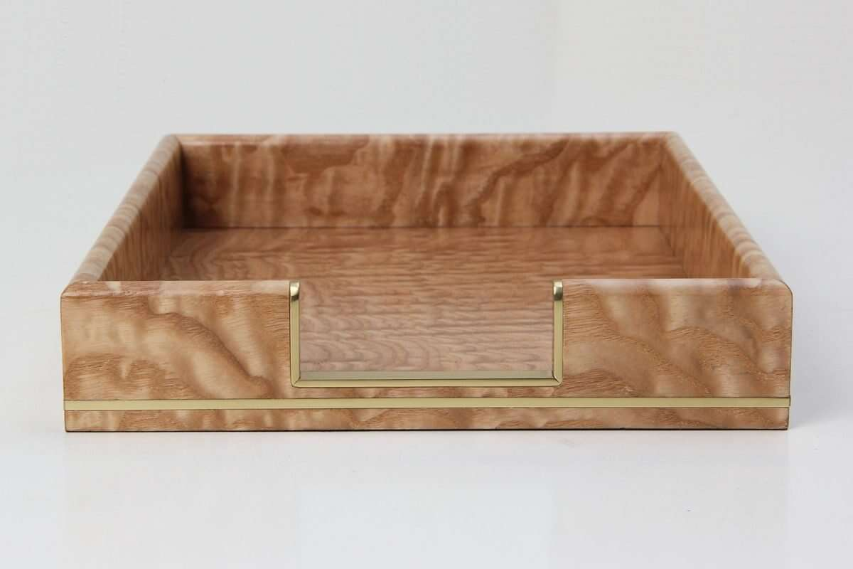 Tamo Ash and Brass In-Tray 6