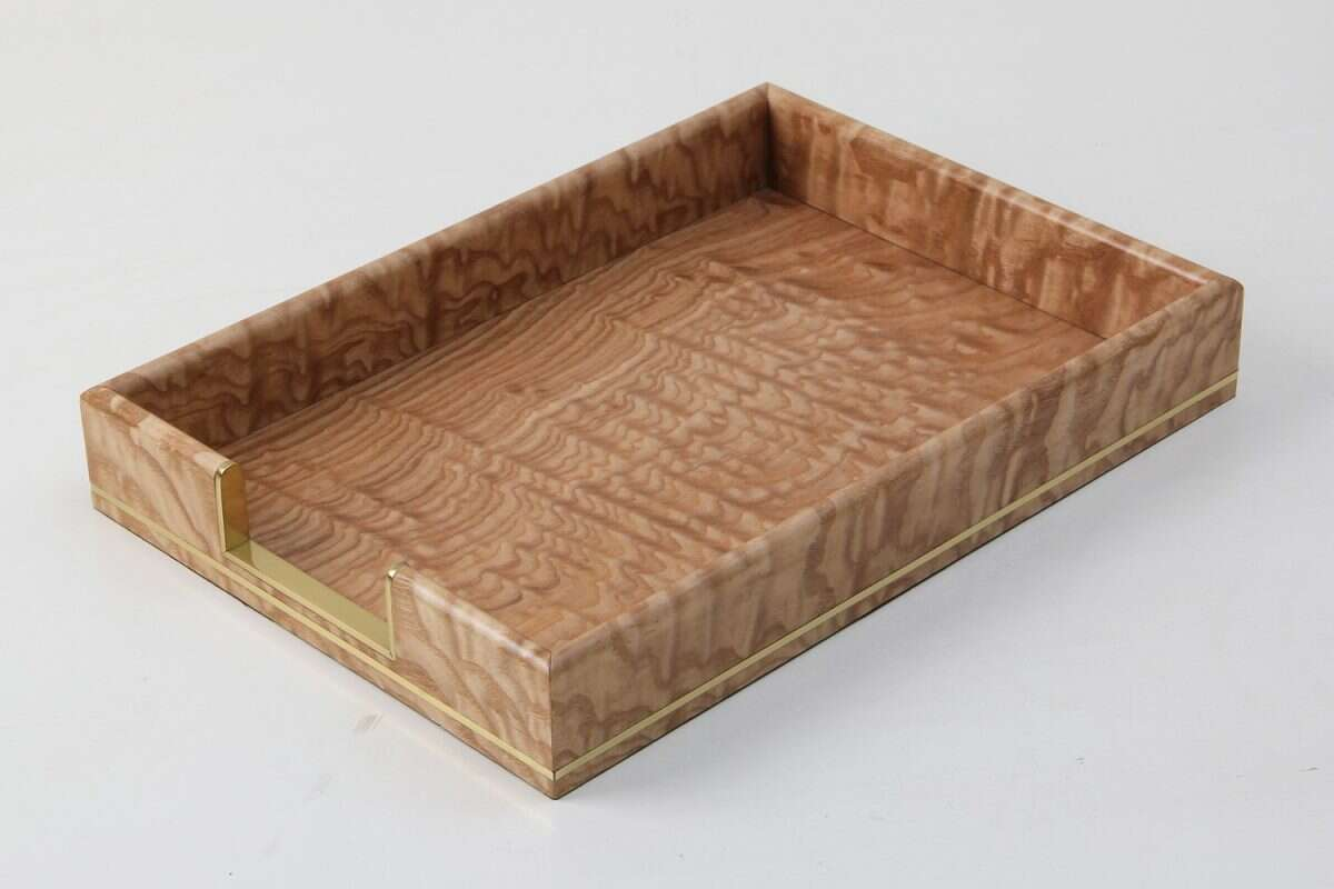 Tamo Ash and Brass In-Tray 7