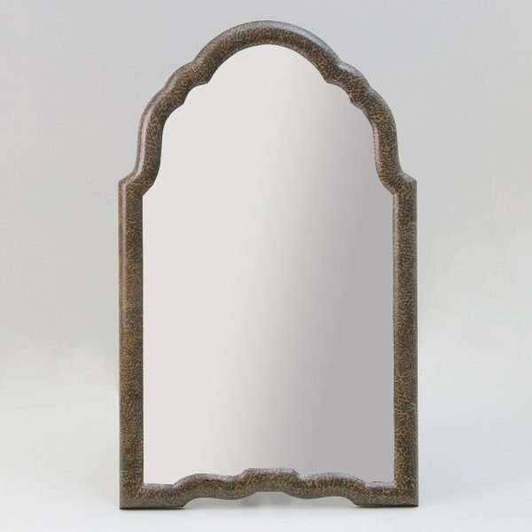 Arden Dressing Table Mirror in Silver Eggshell by Forwood Design 2
