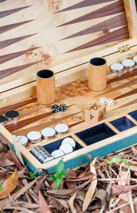 backgammon board outside