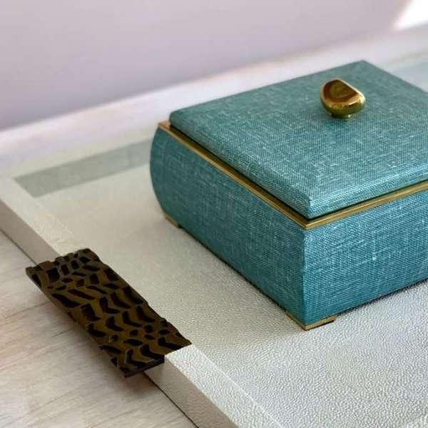 rachel winham drinks tray and linen jewellery box