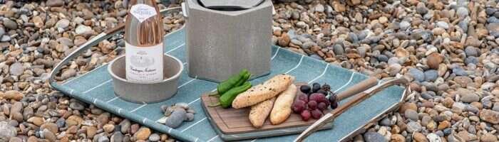 Shagreen wine coaster, drinks tray, Ice bucket and wine bottle coaster